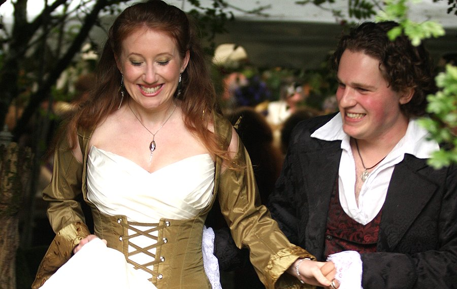 This was a totally fairytale wedding day. With music by.....