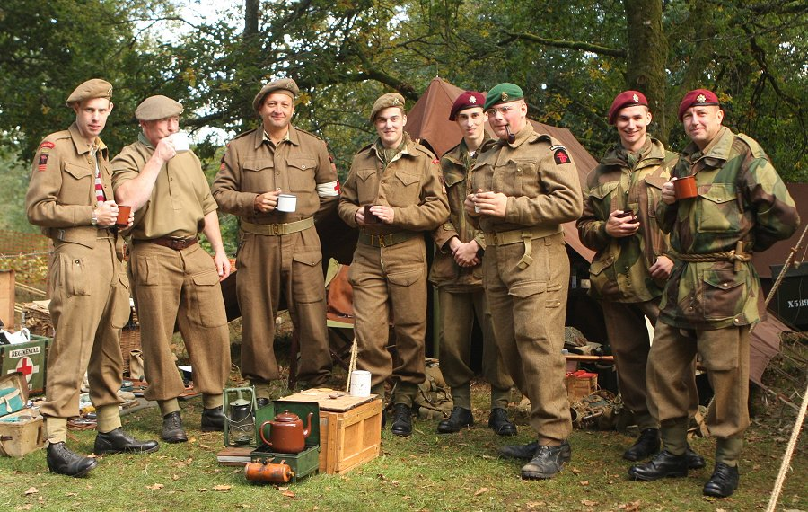 A Wartime unit at a World War Two day at Castle Drogo. This was a great day out.