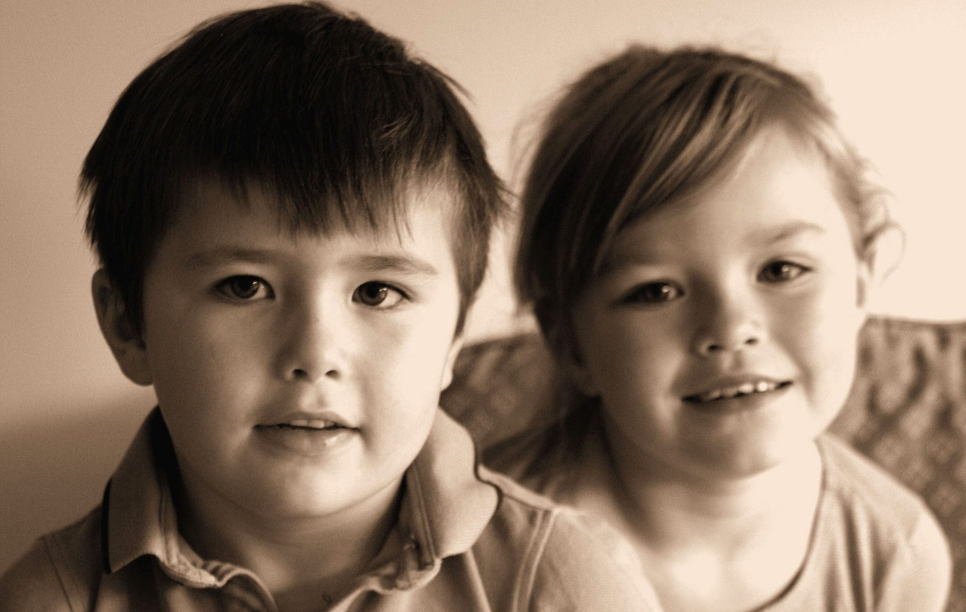 Isaac and Evie.  A shot from the Christmas album I did of them.