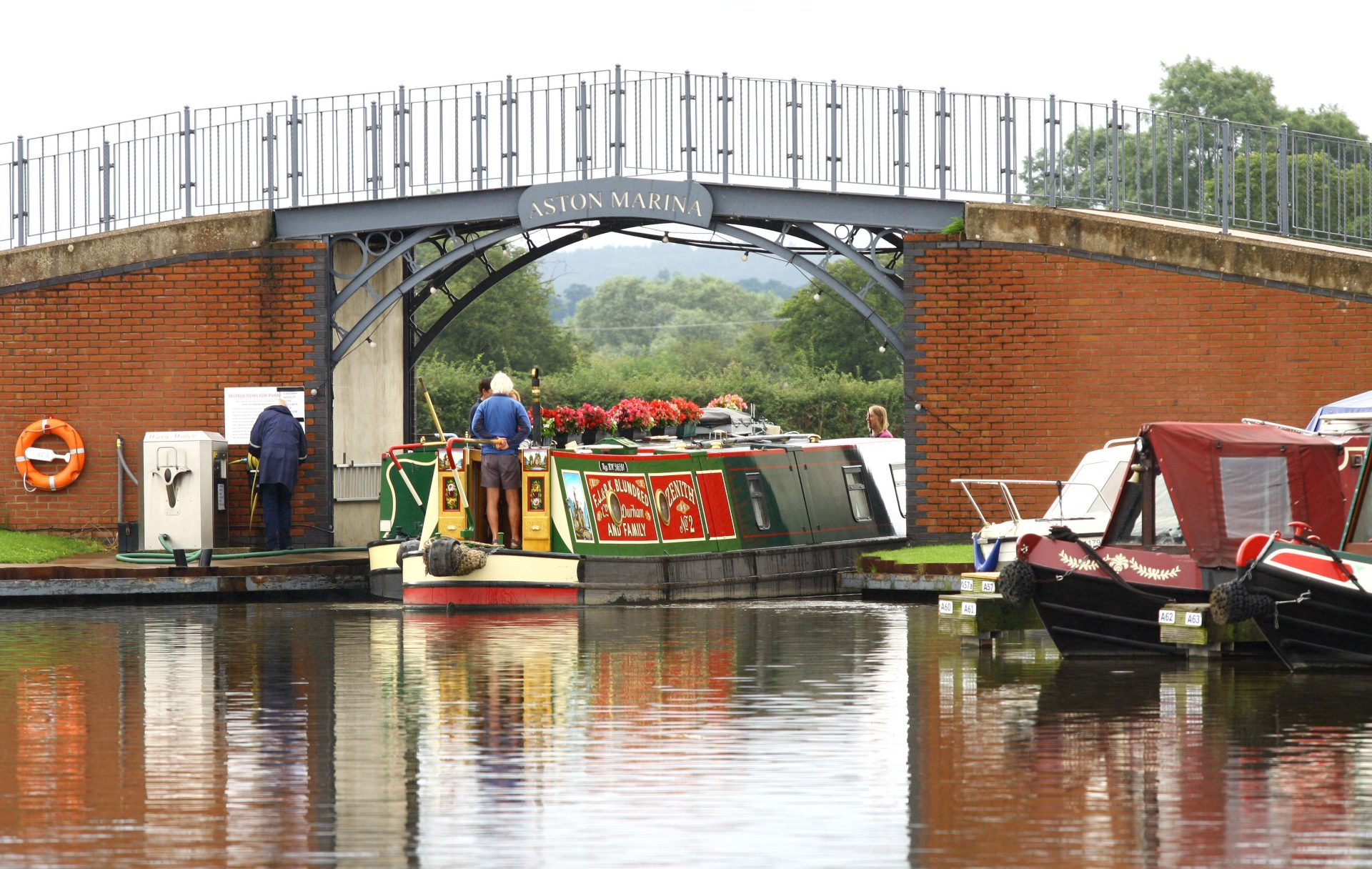 Pump out facilities at Aston near to Stone.  A quality marina.