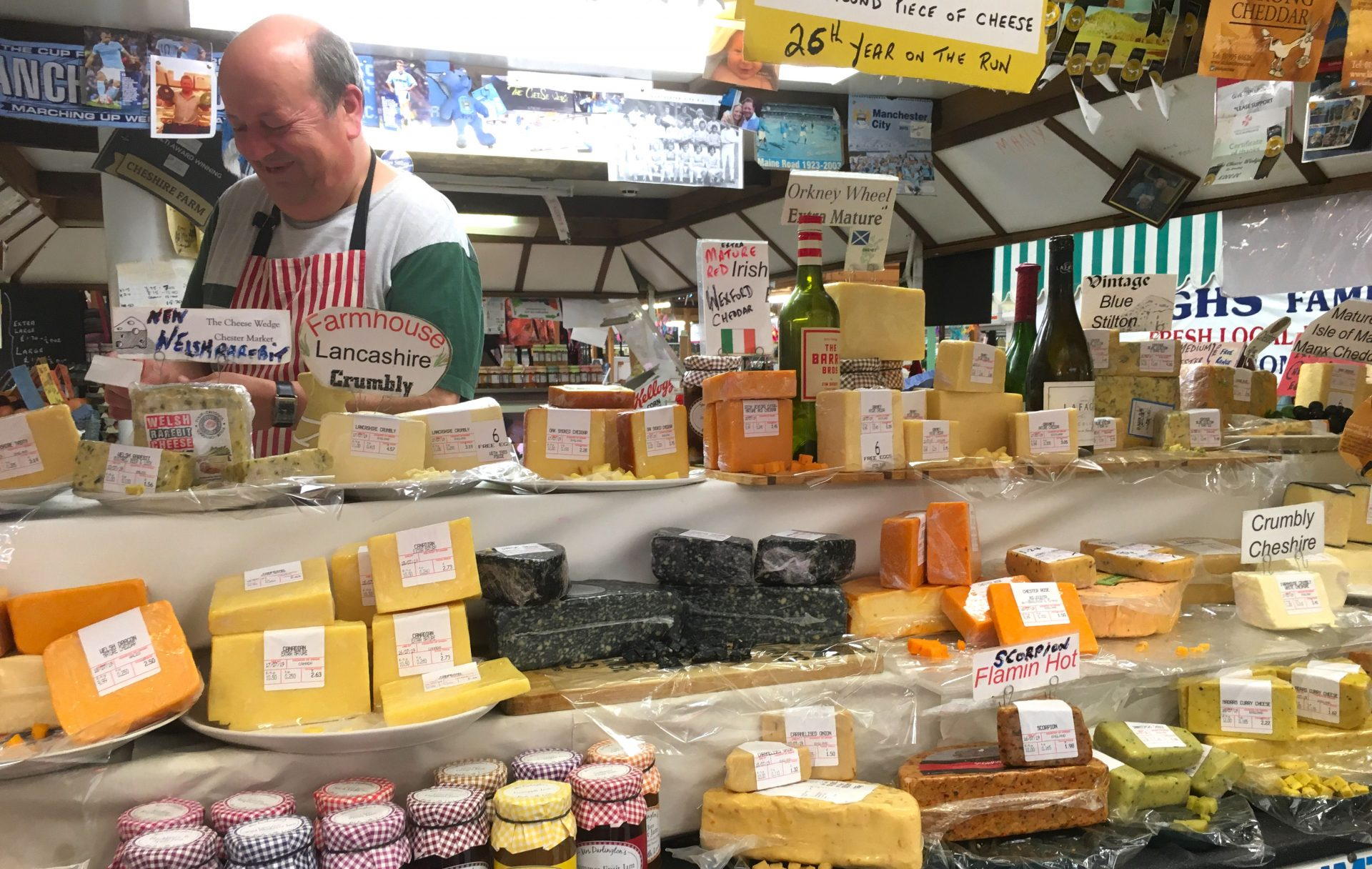 Taken on a visit to Chester Market in 2019. He certainly knew his cheese.