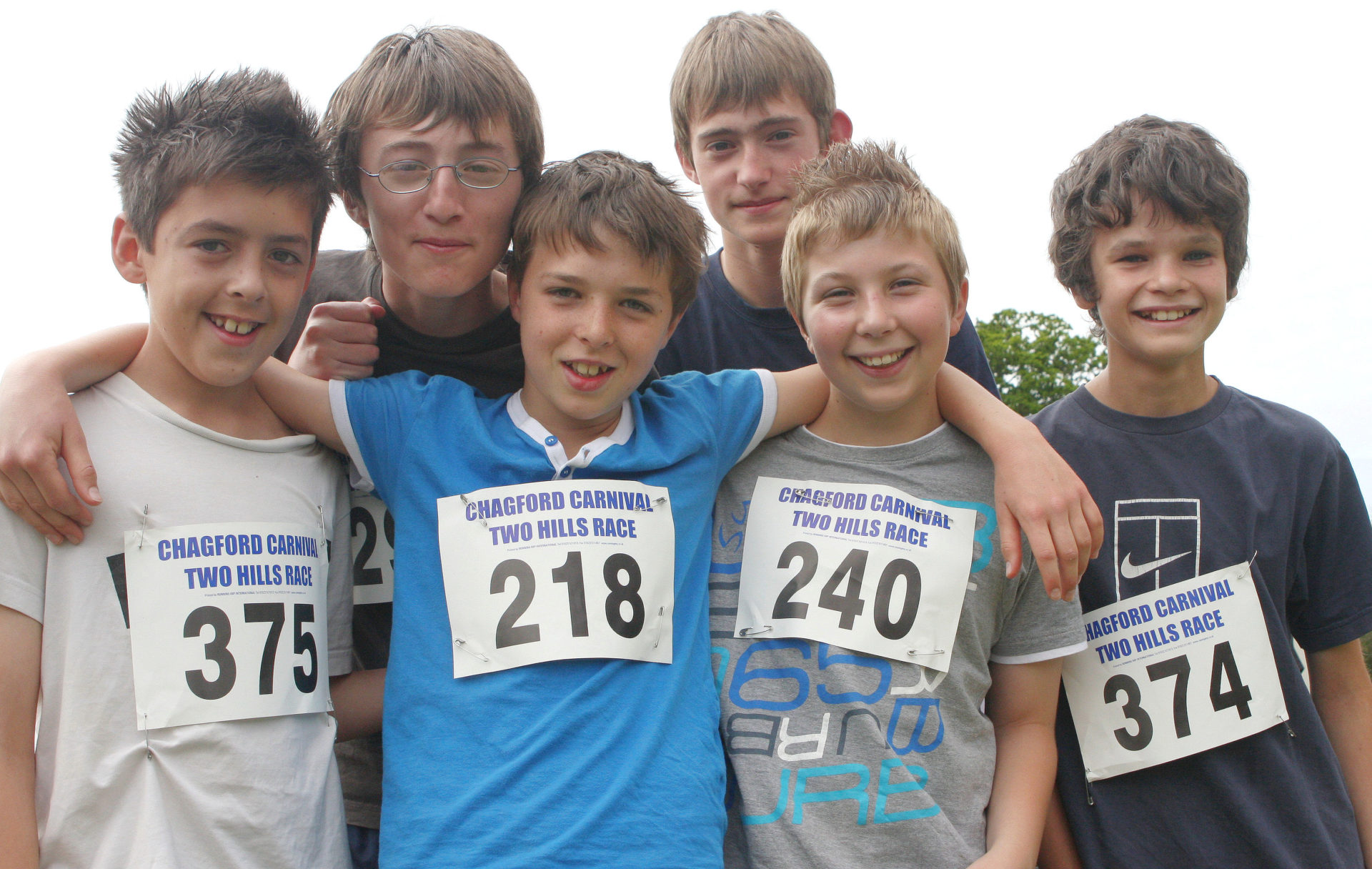 Great to see local boys entering the Two Hills charity Race.