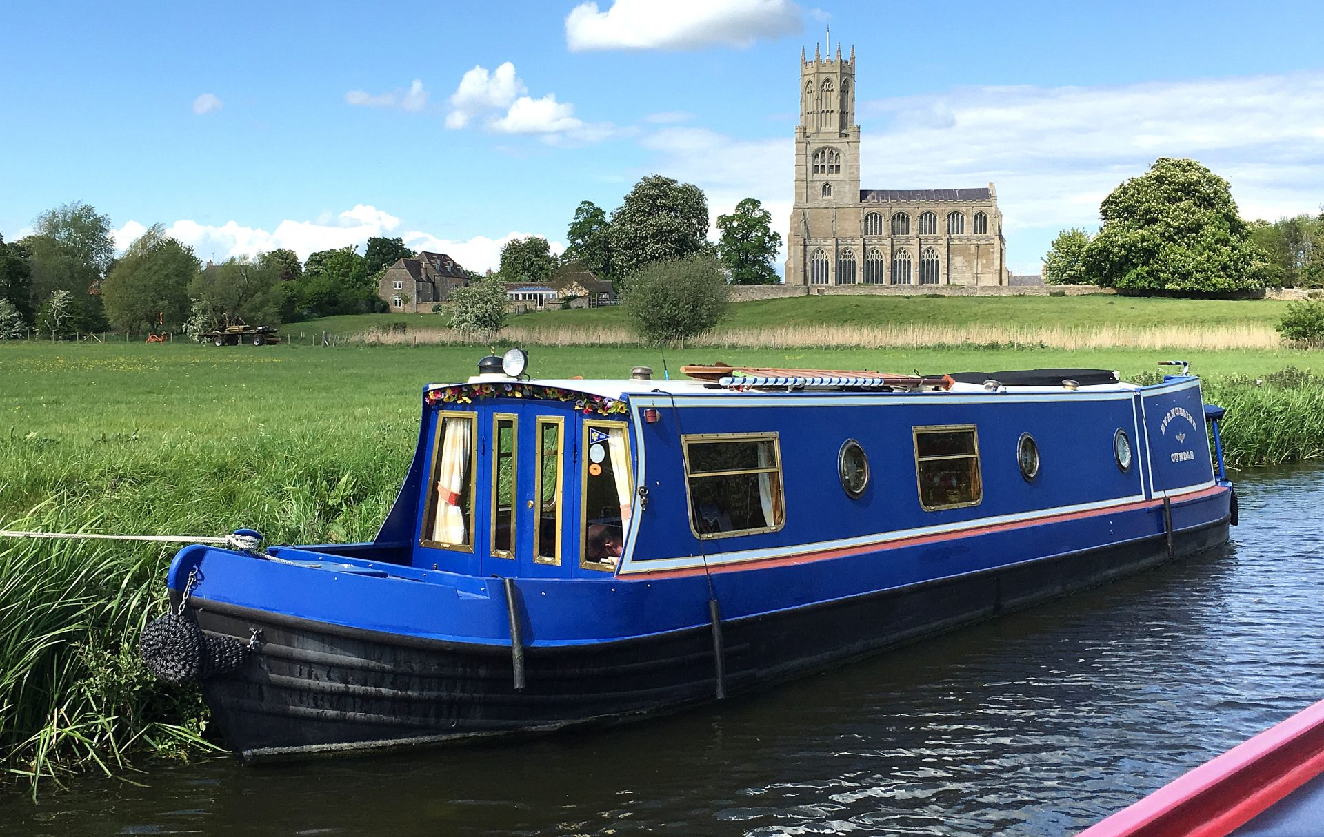 Fotheringhay, River Nene. You can visit the church here. It has a wonderful light interior.