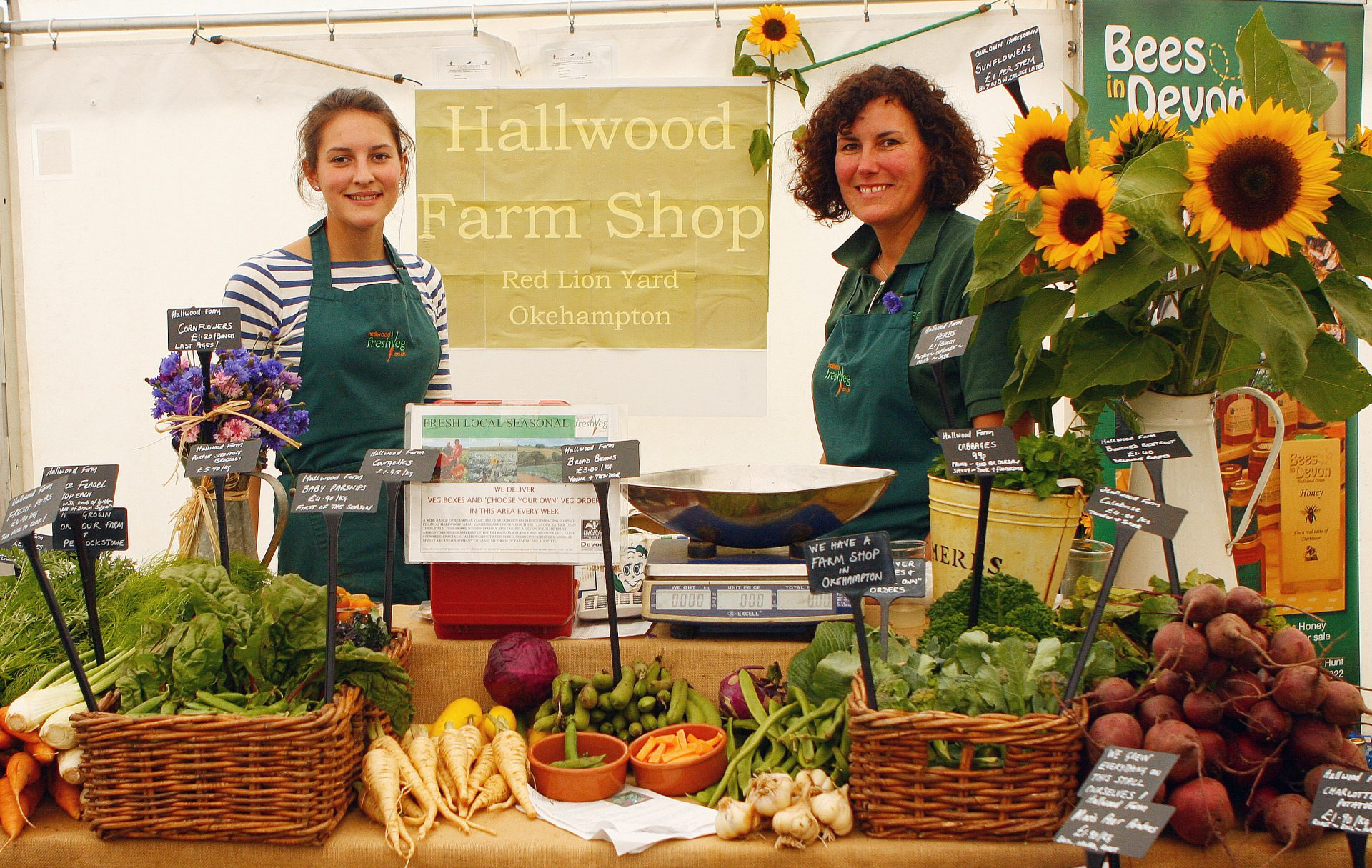 Stall holders at the Chagford Show.