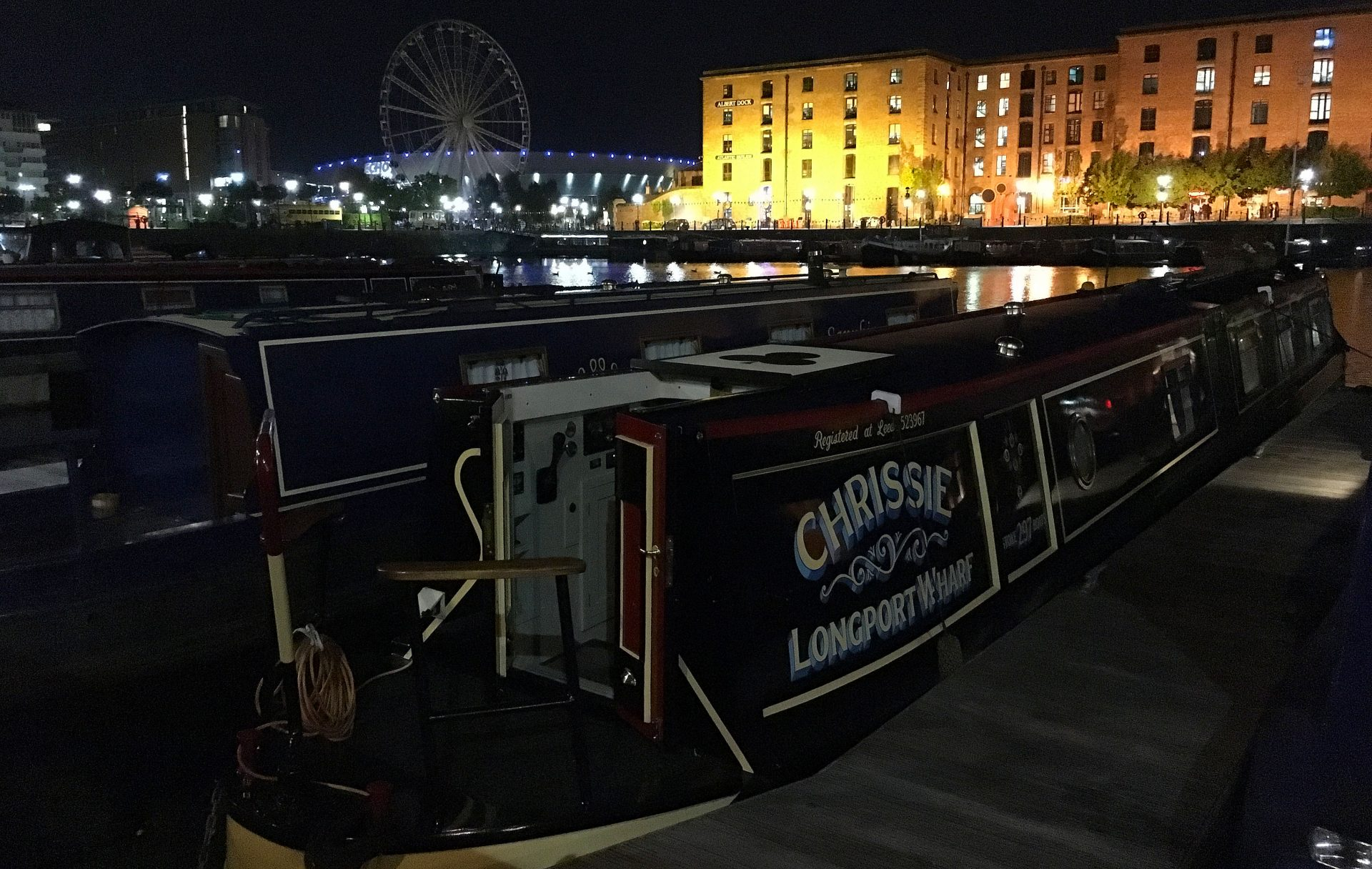 Salthouse Dock Liverpool. A favourite mooring now.