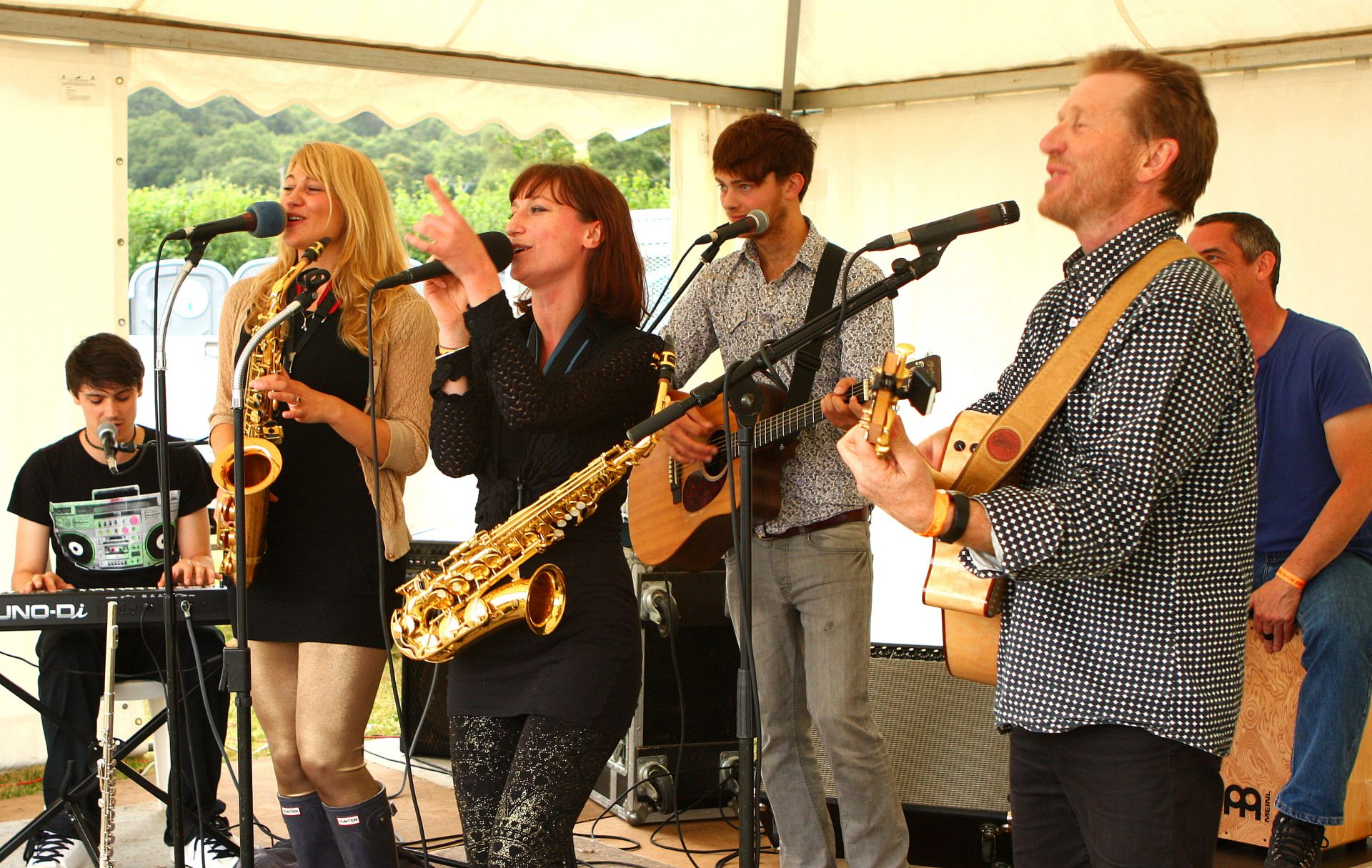 Johny Fuller with his band at Chagford Show. I think it was 2011.