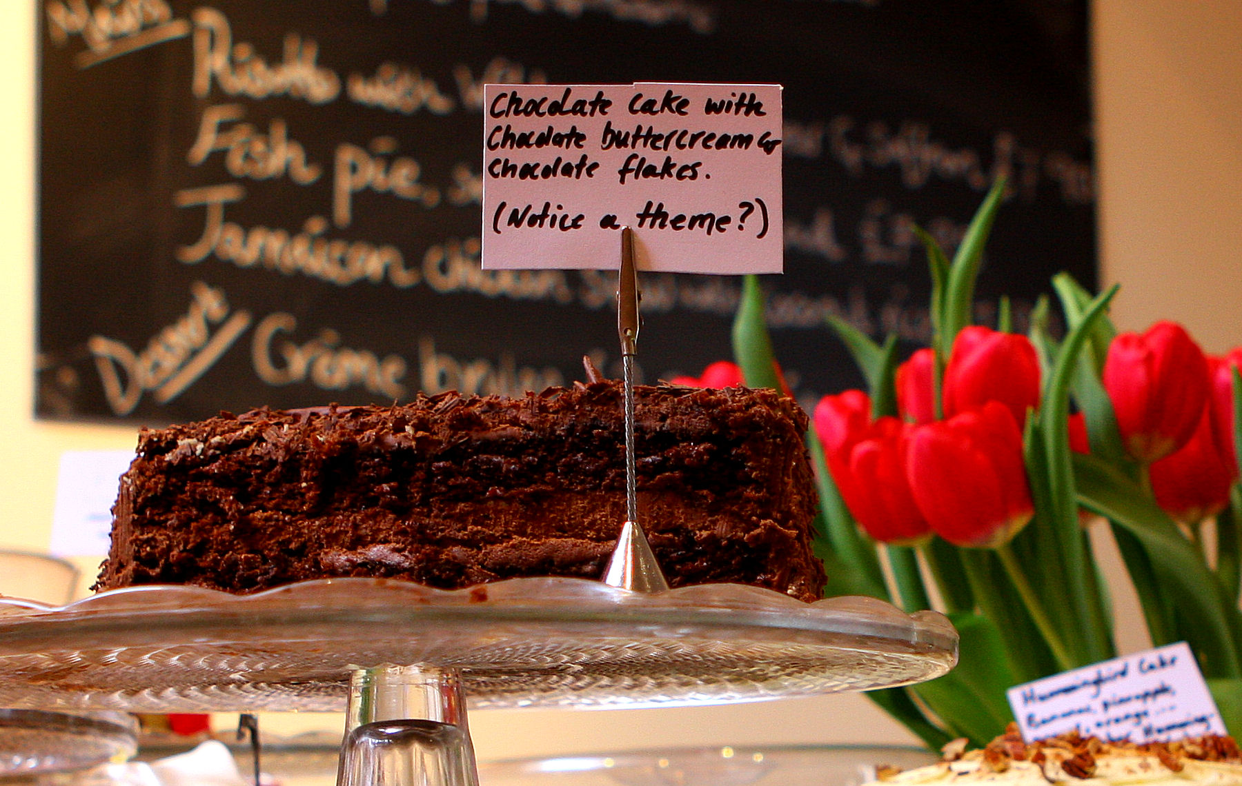 The Old Forge cafe in Chagford. Chocolate cake to die for. A few years ago now.
