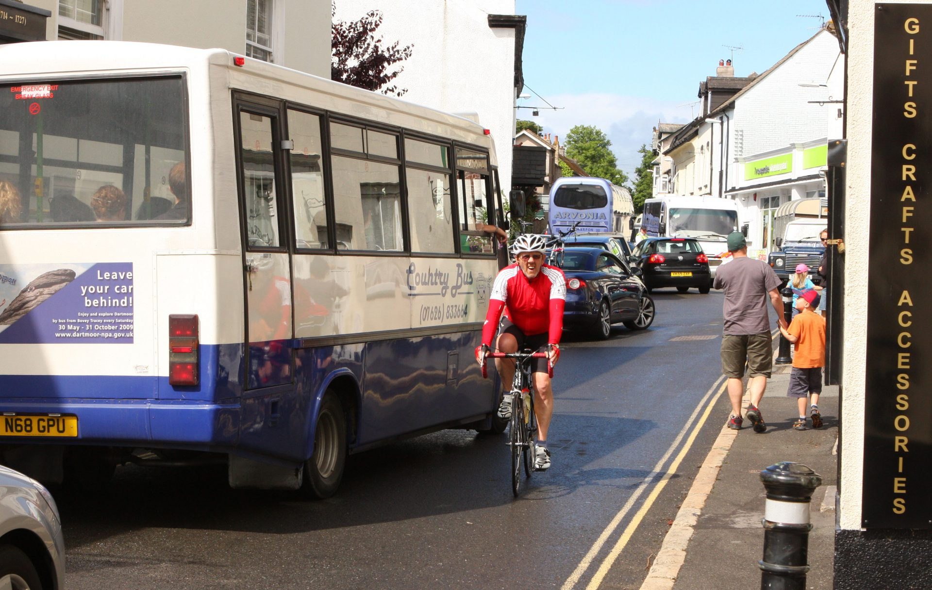 Moretonhampstead gets rather busy in the Summer.