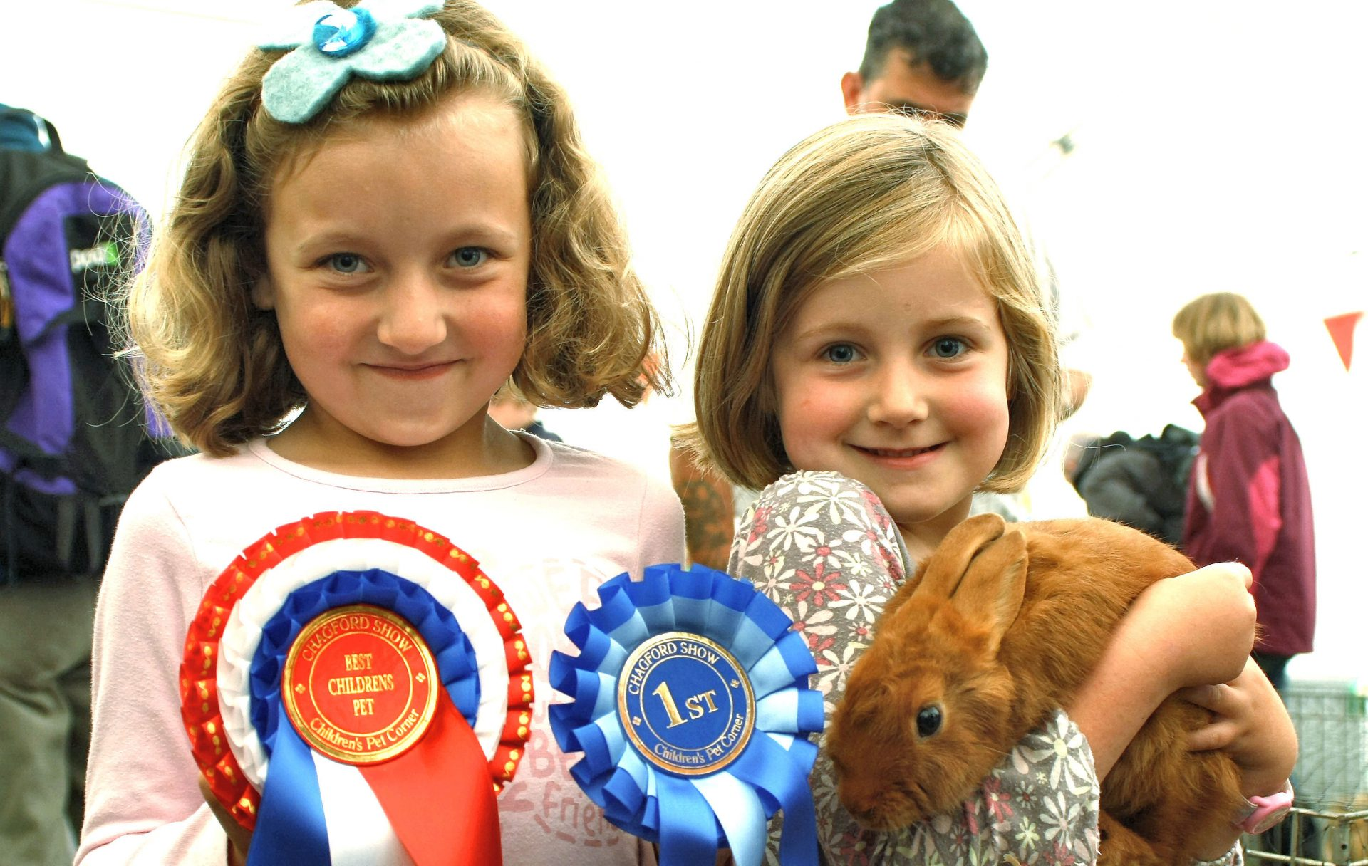 Prizewinners at Chagford Show. Our neighbour's grandchildren.