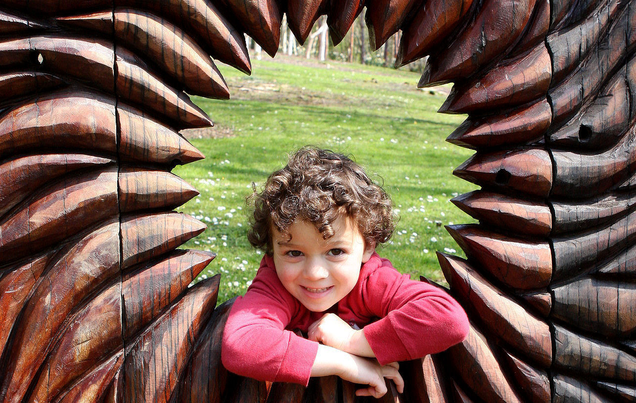 It's easy to take pics of happy kids. This was taken at the Mythic Gardens