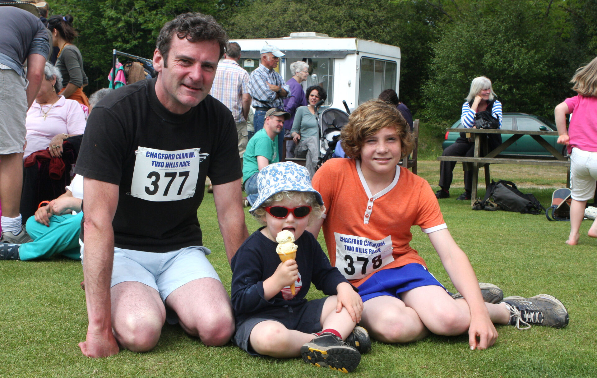 Two Hill Race, Chagford. These two lads will be teenagers by now.