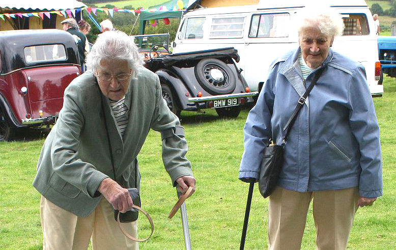 April tries her hand at hoopla, June as ever, egging her on. Throwleigh Show