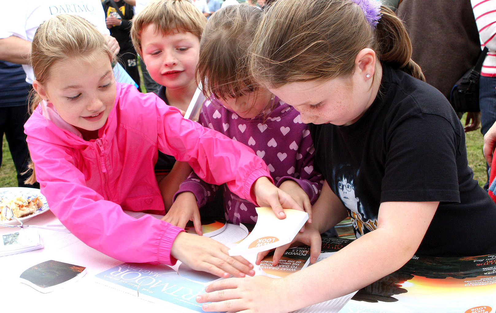 Local kids at Chagford Show keen to complete the puzzle in the fastest time.