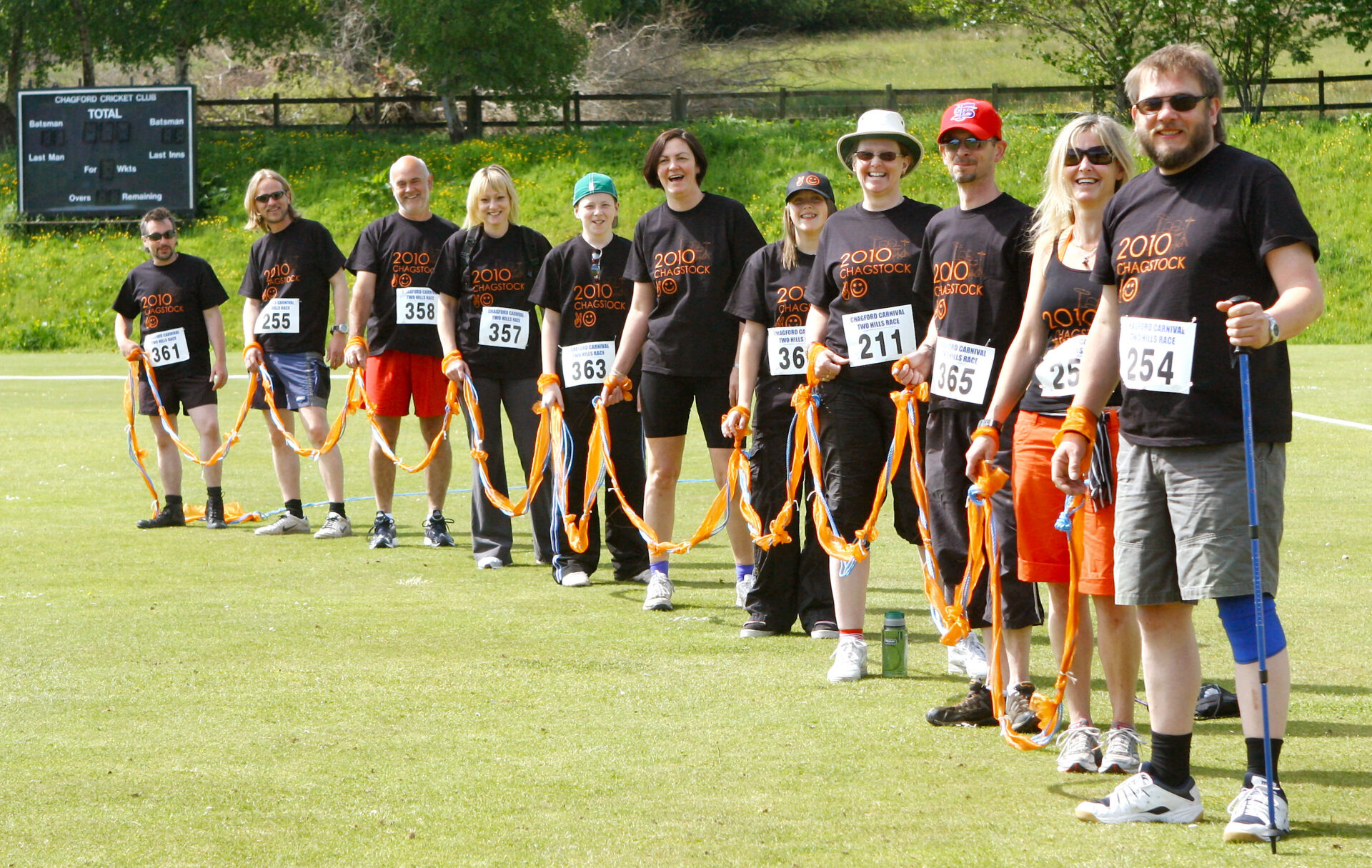 The Chagstock gang of hangers on - to the orange ribbon, that is !!