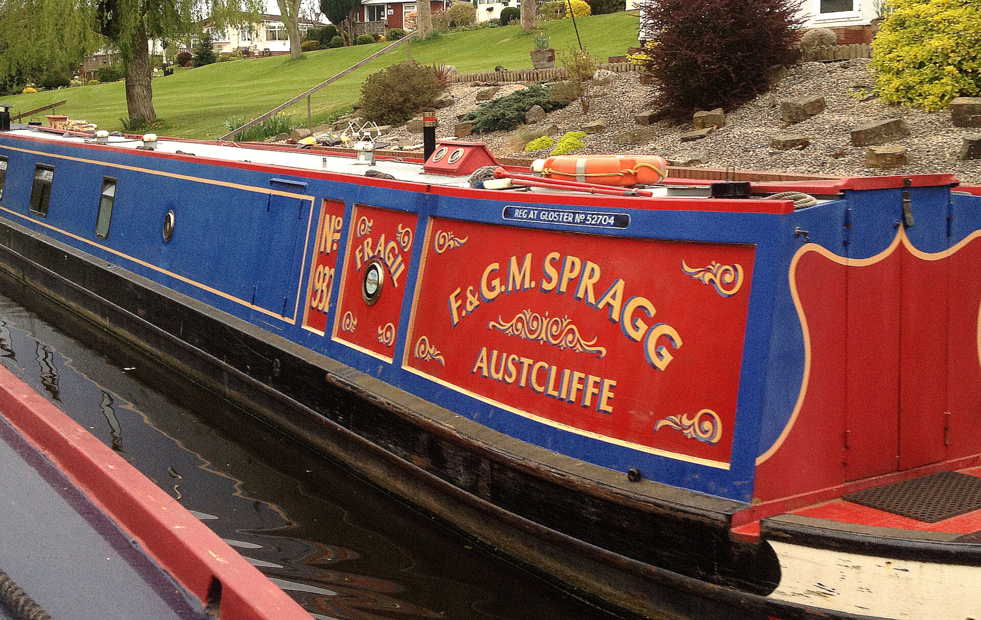 Baswich on the Staffs and Worcs canal. Nb. Fragil.