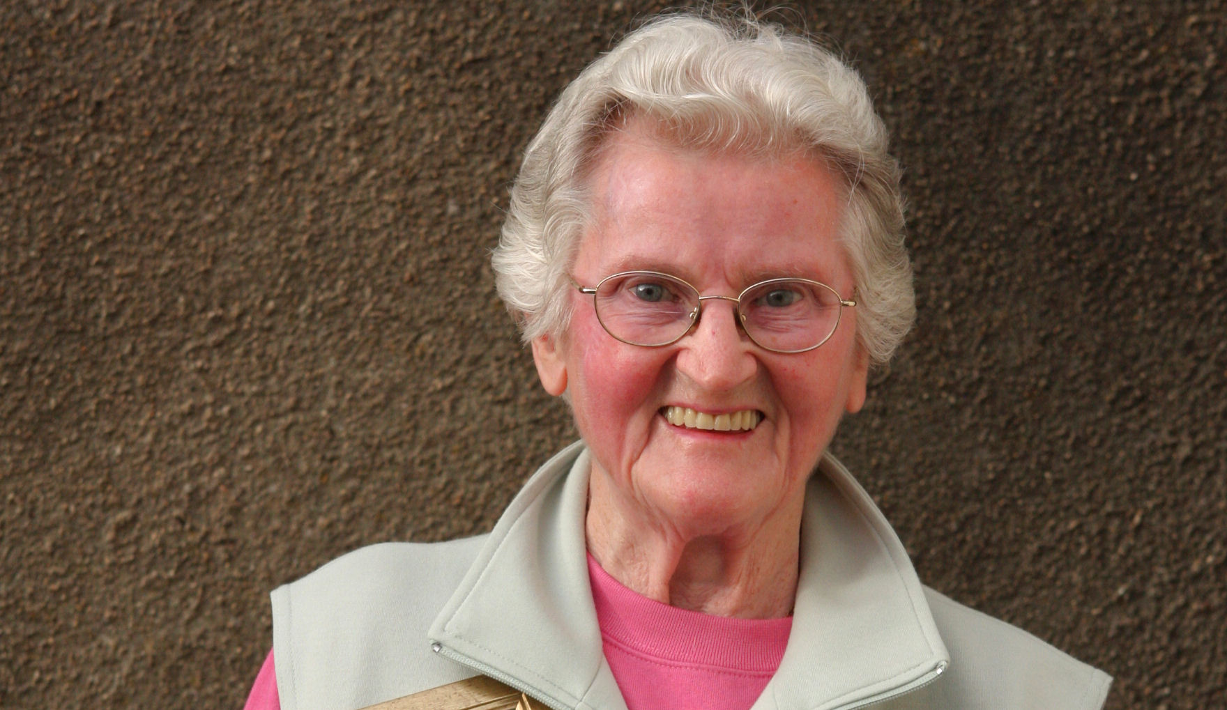 Doreen on the day in 2008 that she was presented with the British Legion Wilkinson Silver Tray for Outstanding Service .