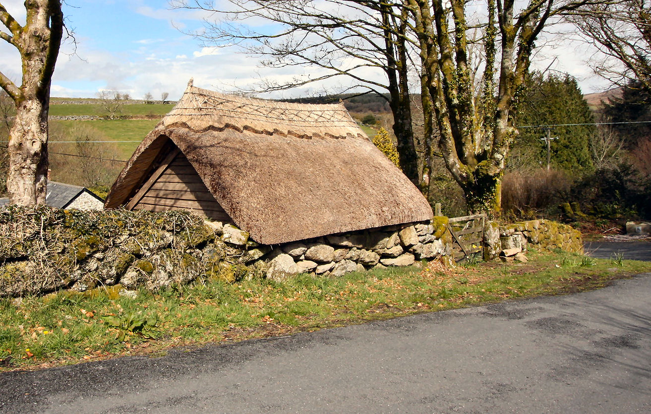 New thatched roof at Bellever., to keep the cottage warm through the coming winter.