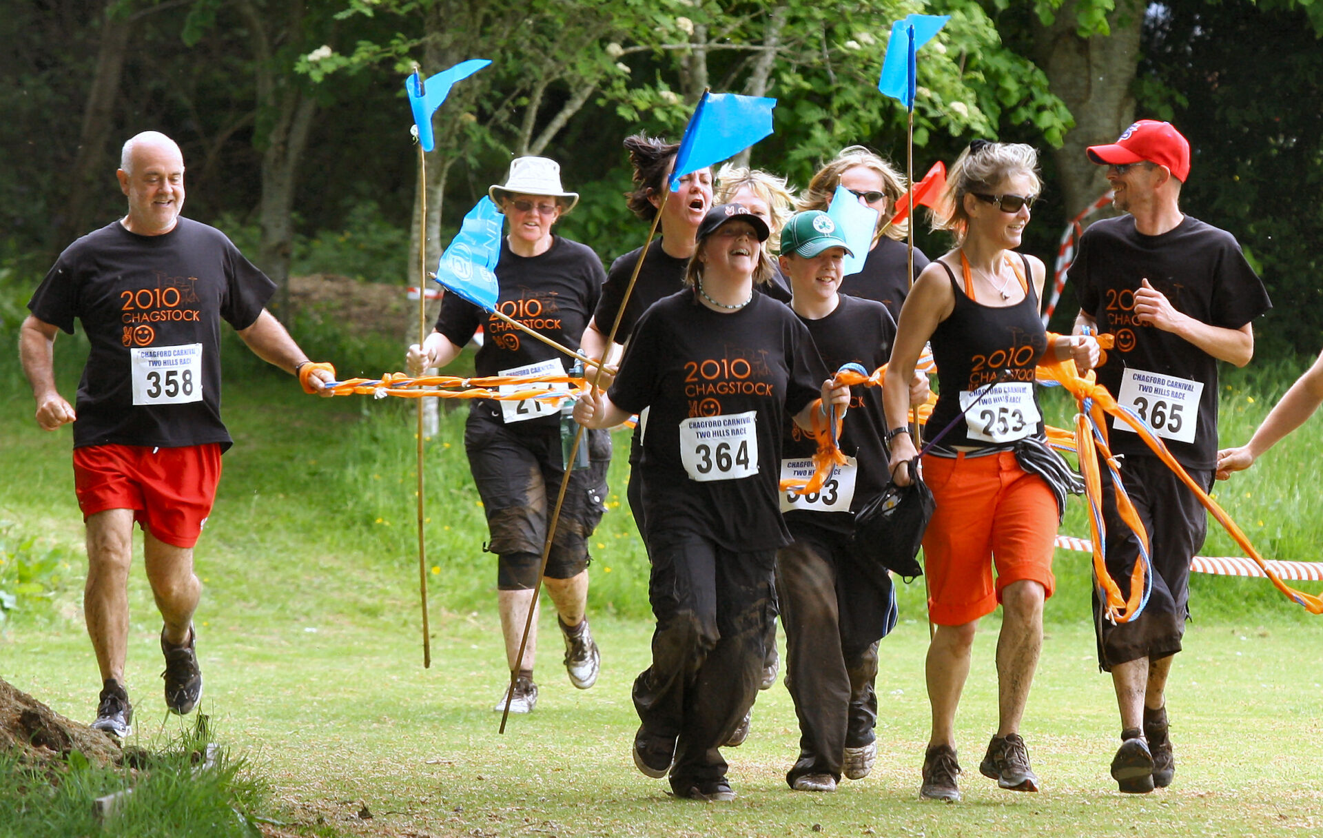 The Chagstock crew almost at the finish line.