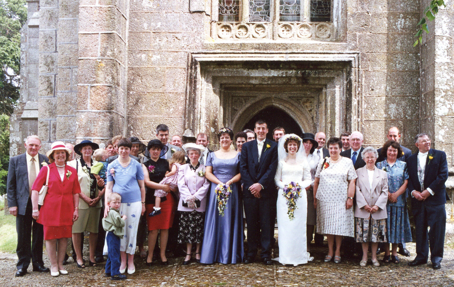 HOVER OVER PIC TO VIEW. Brian & Hazel tied the knot at Okehampton Church. Great reception at Oke Rugby Club.