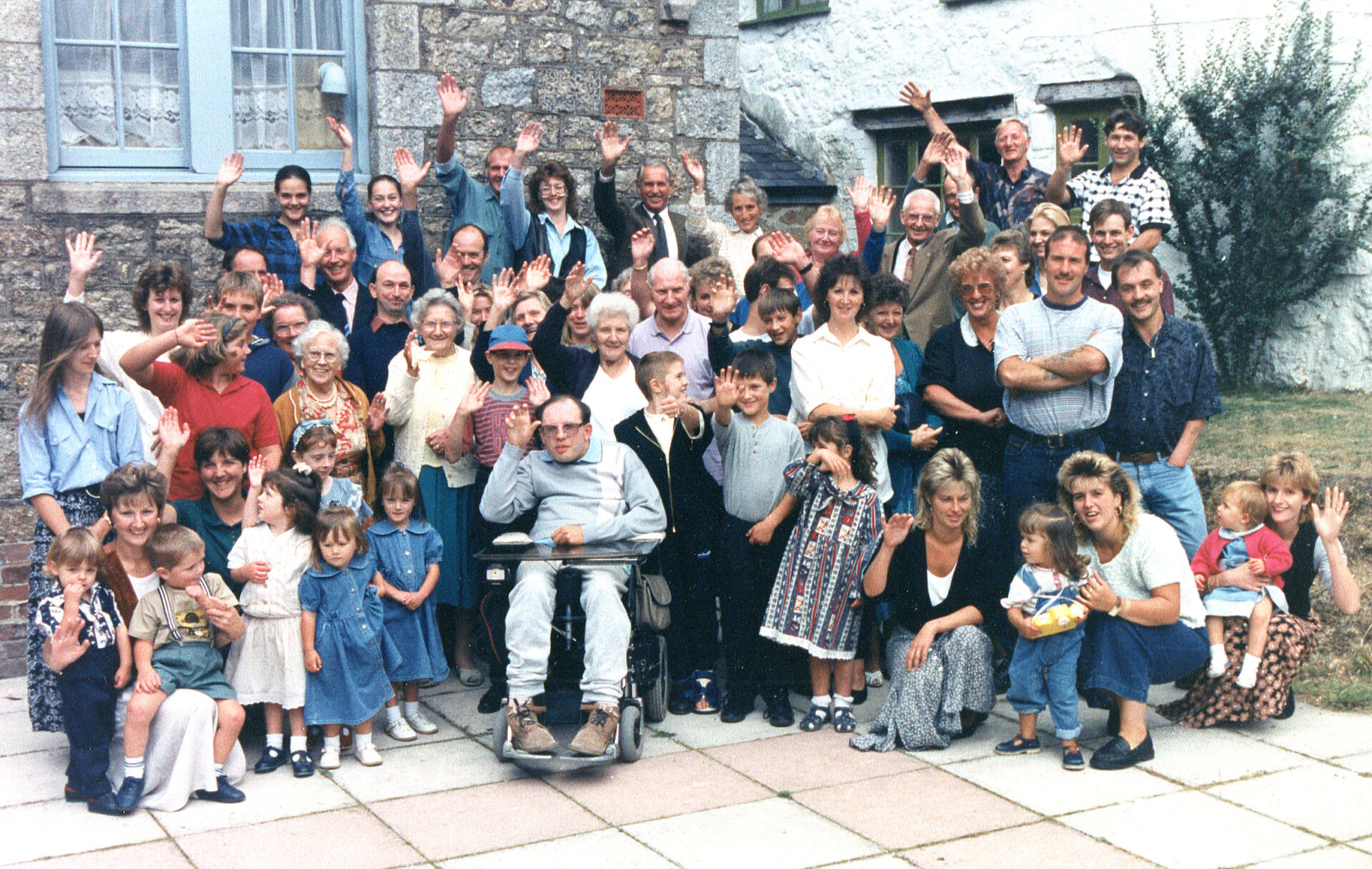 Brian Mortimore loved his Surprise Birthday party at Endacott House. Can you see Erica Loram by Miss/Mrs Harvey ?