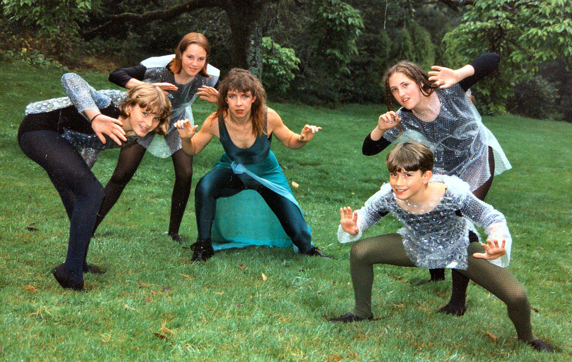 Goliards Midsummer Night's Dream,  with faeries, Anna, Megan, Pru, Danielle   & Gabriel (?)