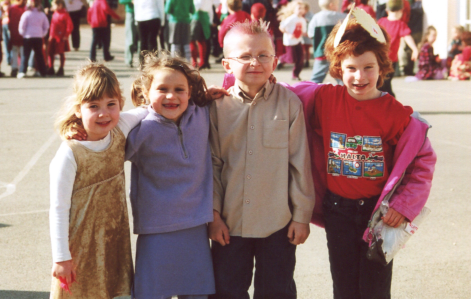 Mounting excitement for a memorable day at Chagford Primary School in March 2003.
