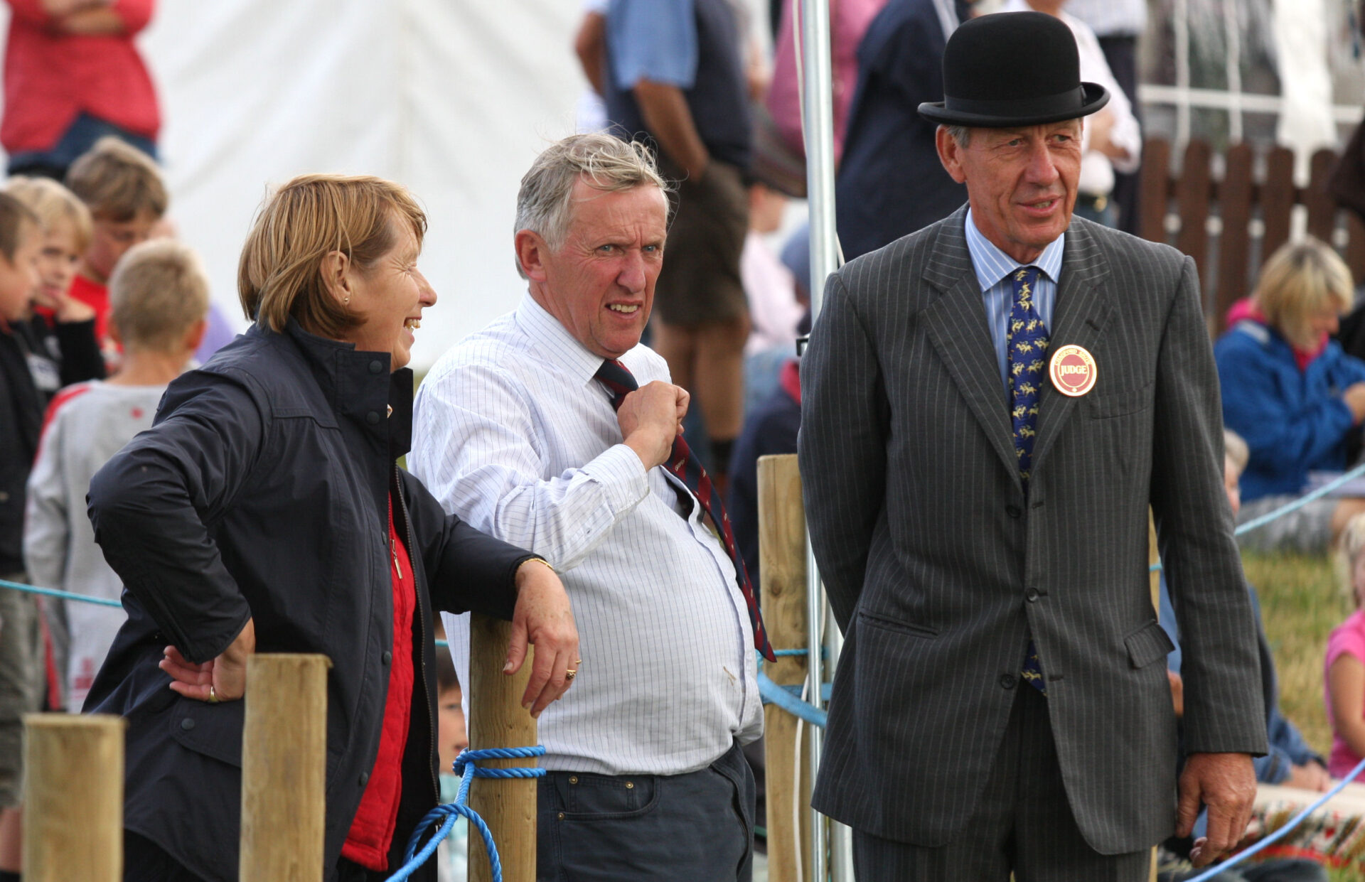 Chagford Show wouldn't be Chagford Show without Diane and John having a natter with the Judges.