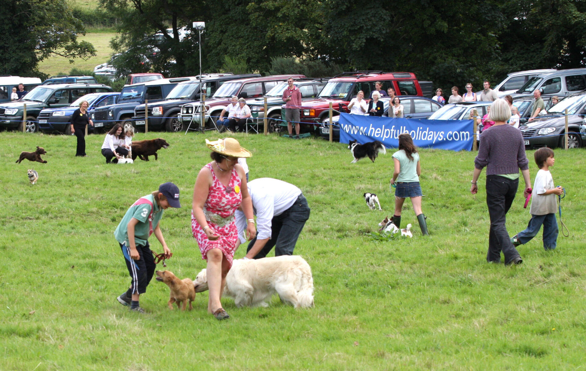 Then, oh dear, canine chaos sets in. Jeff Arscott and his Gran Sylvia in the crowd, enjoying the fun.