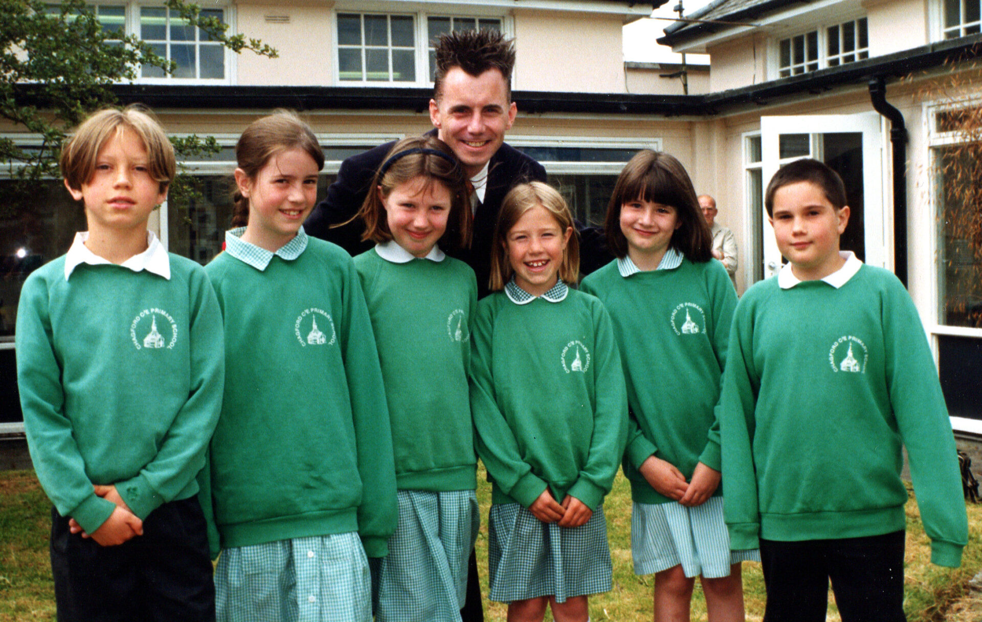 Chef Gary Rhodes visiting the school for a Tate & Lyle promotion.