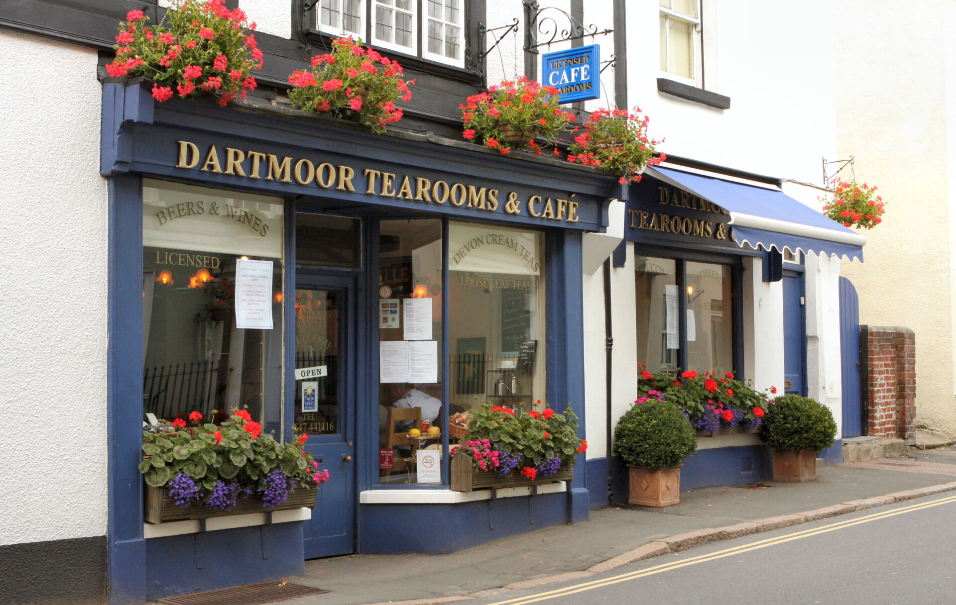 The Dartmoor Tearoom, where George made THE BEST cream teas in Devon. Sadly it's closed now. We miss it.